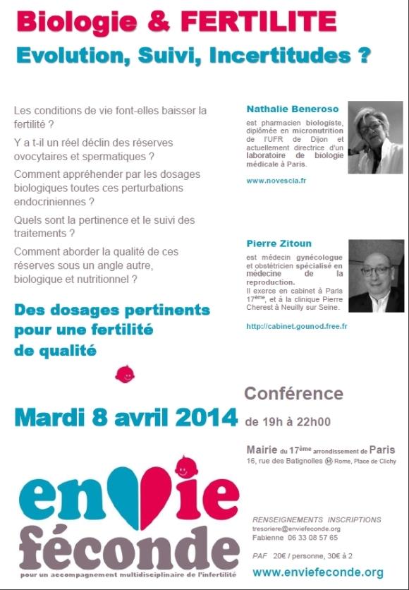 conf 8 avril 2014 Biologie et fertilité