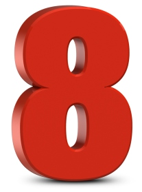 red-number-8