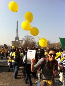 Marche endo Irou+ballons+flyer