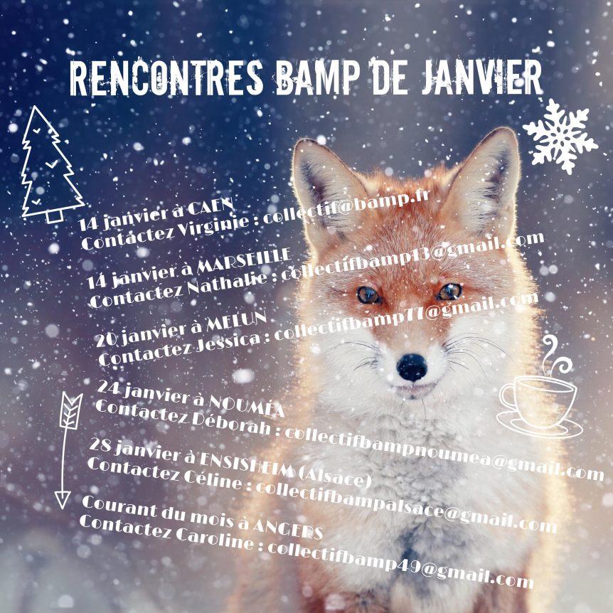Les rencontres BAMP du mois de janvier2017