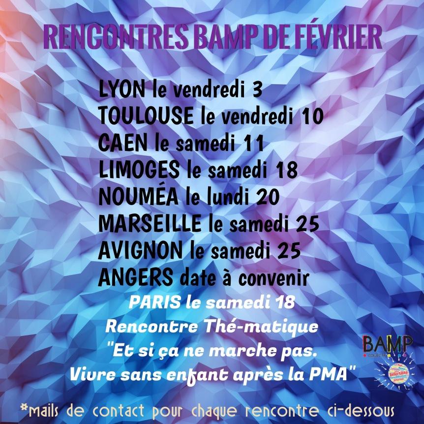 Les rencontres BAMP du mois defévrier