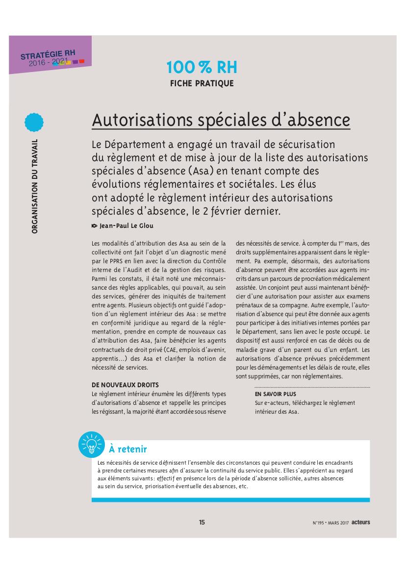 Le département de la Seine Saint Denis valide les autorisations d'absence pour protocoles de soins enamp