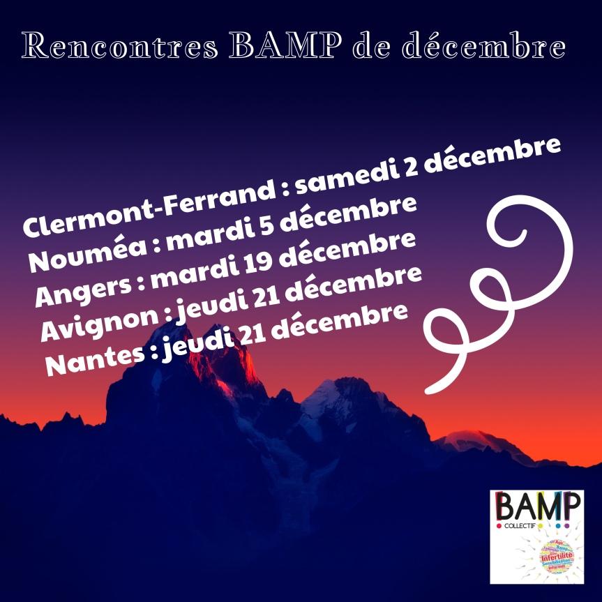 Rencontres BAMP du mois dedécembre