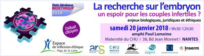 Bioéthique – Nantes : La recherche surl'embryon