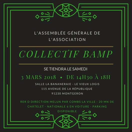 Samedi 3 mars : assemblée générale BAMP!