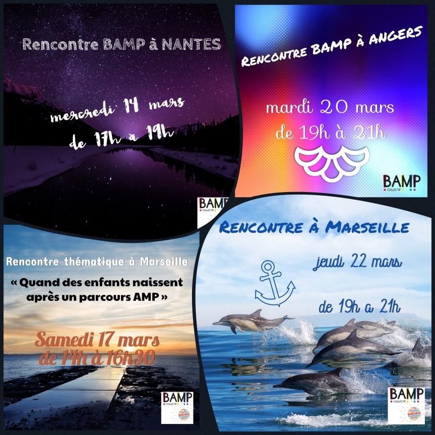 Pour ce mois de mars, en plus des marches «EndoMarch», des rencontres BAMP!