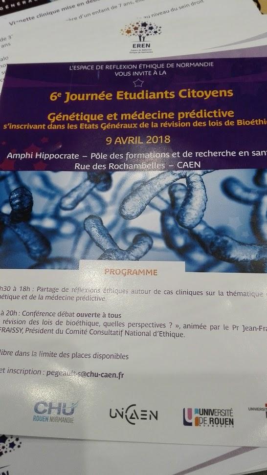 Bioéthique 2018 : Génétique et médecineprédictive