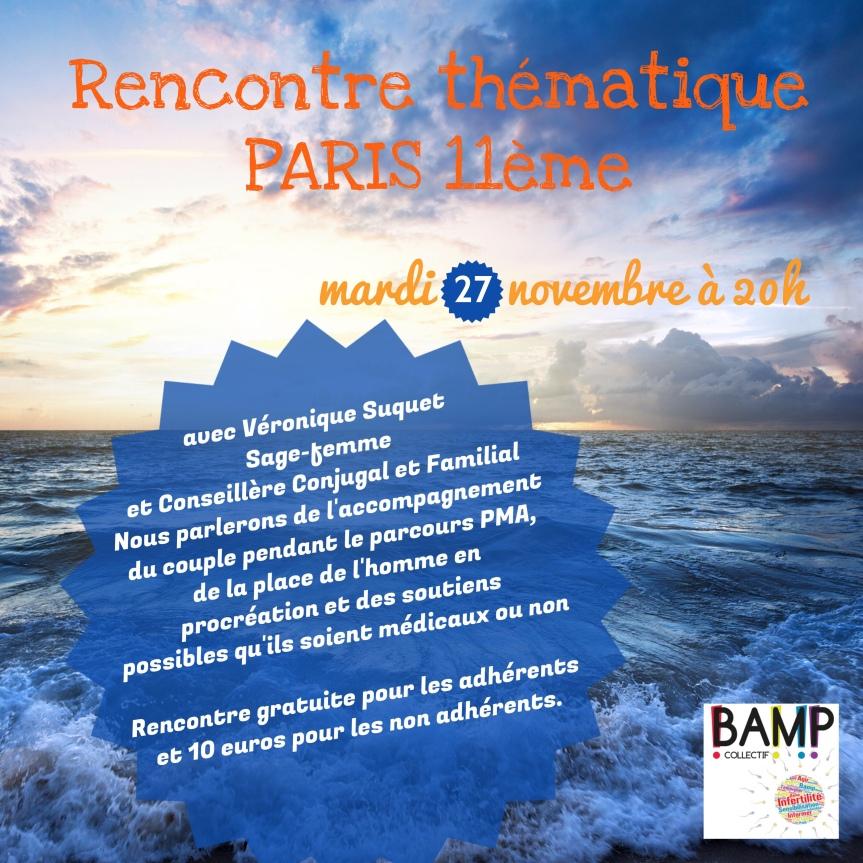 Rencontre thématique à Paris11ème