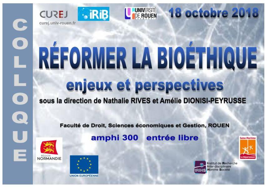 Colloque bioéthique Rouen