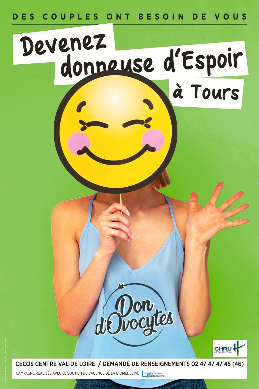 A TOURS une campagne d'information locale sur le don d'ovocytes !