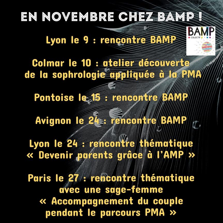 On récapitule ! Les rencontres BAMP de novembre!