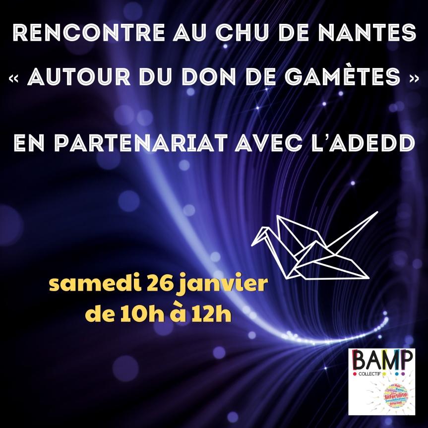 «Autour du don de gamètes» à Nantes!
