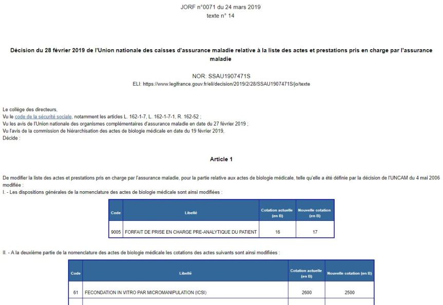 L'ICSI moins remboursée = la face visible d'un mouvement ultra libéral pour le financement de l'AMP Française?