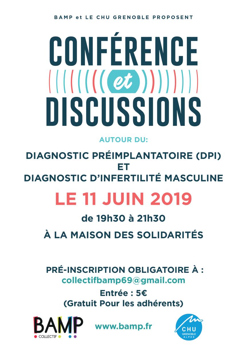 Evénement BAMP : une conférence sur le DPI et le diagnostic de l'infertilité masculine