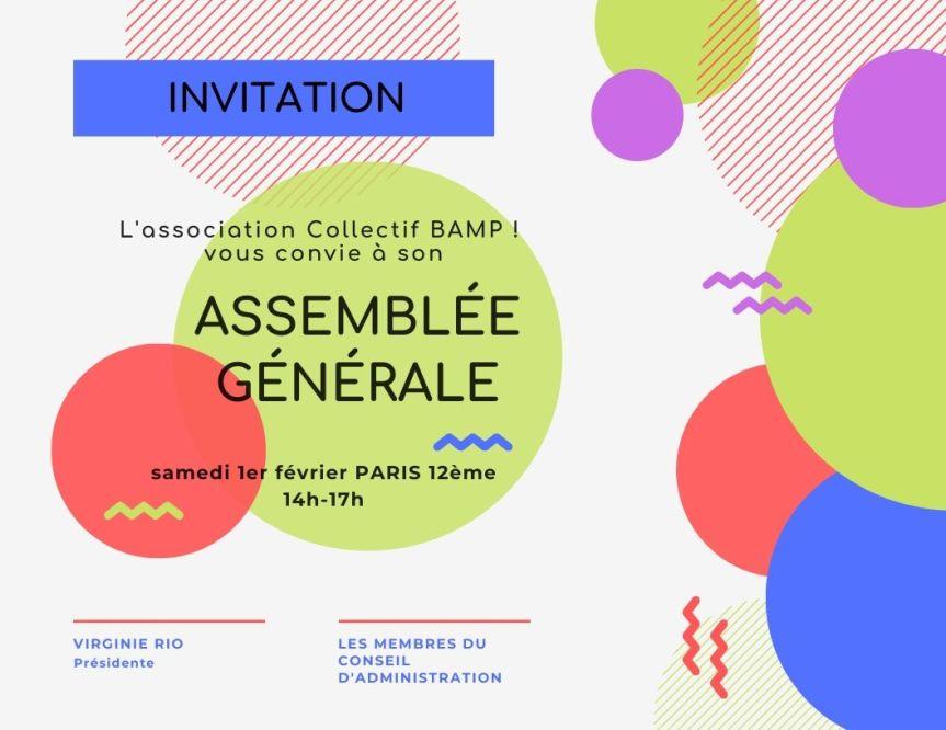 Invitation à l'assemblée générale de l'association